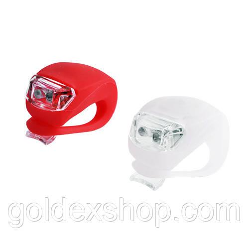 Ліхтар велосипедний HJ 008-2 (червоний+білий світ)