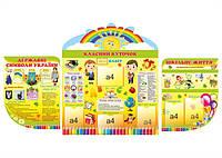 Комплект стендов Классный уголок для младшей школы(Эконом)