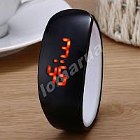 Женские часы браслет Black LED