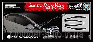 Ветровики, дефлекторы окон Hyundai Elantra AD 2015-2020 (Autoclover D073)