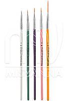 Кисти лайнеры набор Starlet Professional для рисования, 5 шт (разноцветные)