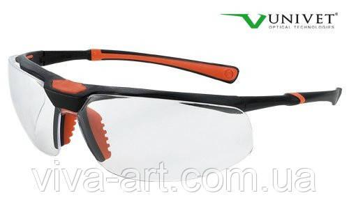Окуляри захисні 5х3, подвійне покриття від запотівання і подряпин, універсальна гнучка оправа, Univet (Італія)