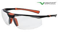 Очки защитные Univet 5х3 двойное покрытие от запотевания и царапин, универсальная оправа, фото 1