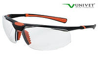 Окуляри захисні 5х3, подвійне покриття від запотівання і подряпин, універсальна гнучка оправа, Univet (Італія), фото 1