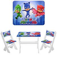 Детский столик и 2 стульчика М 2100-03 Герои в масках