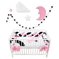 """Комплект постельки для новорожденных """"Kingdom of happy princess"""" (бортики косички)"""