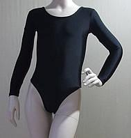 Купальник гімнастичний Europe (довгий рукав , чорний, лайкра)