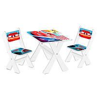Детский столик и 2 стульчика М 2100-05 Тачки
