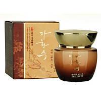 Антивозрастной крем для век с женьшенем и маточным молочком Ja Hwang Su Elastic Eye Cream, оригинал