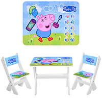 Детский столик и 2 стульчика М 2100-01 Свинка Пепа