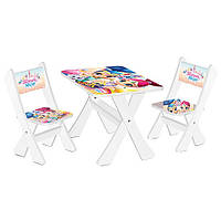 Детский столик и 2 стульчика М 2100-04