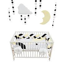 """Комплект постельки для новорожденных """"Kingdom of sunny bunny"""" (бортики косички)"""