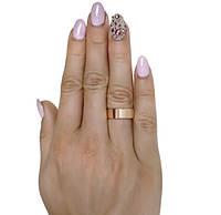 """(Пара) Серебряные обручальные кольца с золотыми вставками """"Американка"""" №12-5, фото 1"""