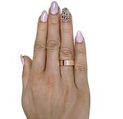 """(Пара) Серебряные обручальные кольца с золотыми вставками """"Американка"""" №12-5"""