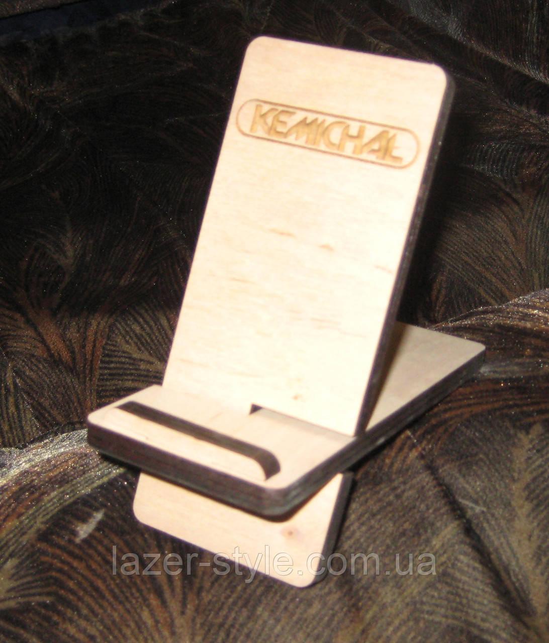 Подставка под телефон береза/ольха