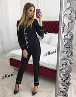 Женский костюм брюки + пиджак на пуговицах