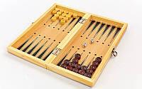 Нарды длинные деревянные настольная игра Zelart 29 x 29 см Коричневый (W7711), фото 1