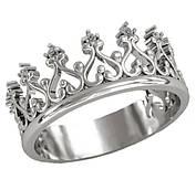 Серебряное кольцо Корона №0699-5