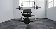 Резиновая плитка для тренажерного зала, фото 1
