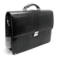 Портфель кожаный мужской классика черный Desisan 317-11 Турция, фото 1