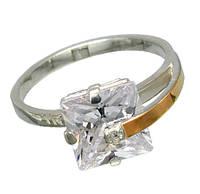 """Женское серебряное кольцо с золотыми пластинами """"Сладкий плен"""""""
