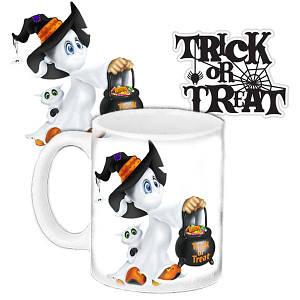 Кружка c принтом Хеллоуин Halloween Конфеты или смерть