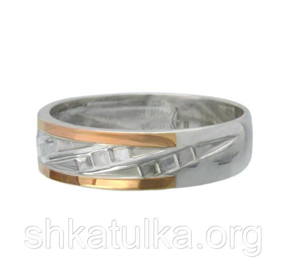 ee7072e40715 Пара) Серебряные обручальные кольца с золотыми вставками