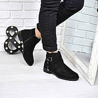Ботинки женские Stars черные замша 3768, ботинки женские