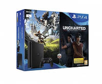 Sony PlayStation 4 1TB Slim+ Horizon + Uncharted Lost