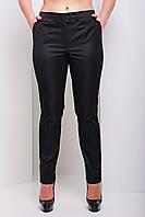 Женские классические черные брюки с подворотами большие размеры Хилори-Б