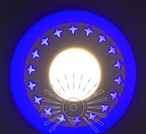 """LED панель Lemanso """"Звезды"""" 3+3W с синей подсв. 350Lm 4500K / LM535"""