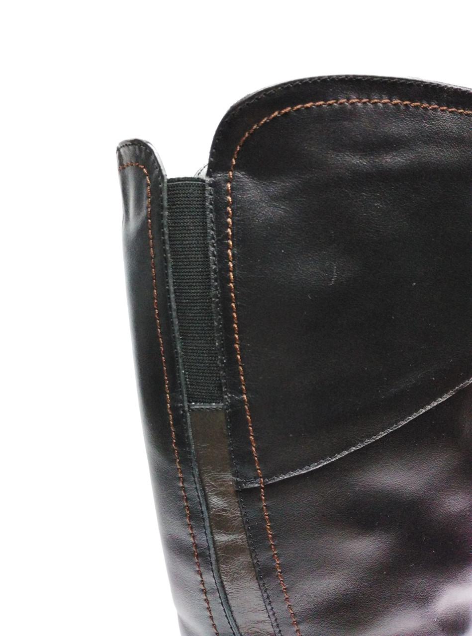 47fe50c88 Кожаные черные зимние сапоги с широким голенищем. Большие размеры (37 - 43  ).