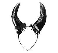 Рога черные на обруче
