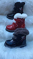 Детские зимние ботинки для девочек оптом Размеры 32-37, фото 1