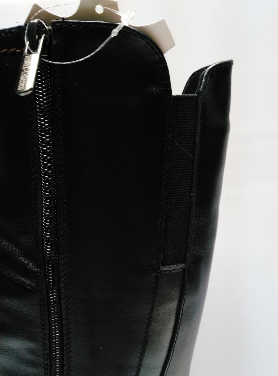 110483b30 Кожаные черные зимние сапоги с широким голенищем. Большие размеры (37 - 43  ). Украина. , цена 2 100 грн., купить в Ровно — Prom.ua (ID#796247645)