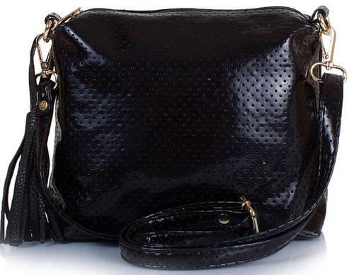 Модная сумка-клатч женская из кожзам ETERNO ETZG08-17-2, 27*18*10, цвет черный.