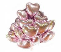 Сердца гелиевые розовые 20 шт.