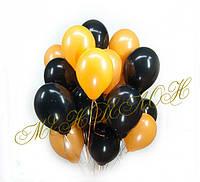 Оранжево-черные шарики 25 шт.
