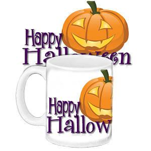 Кружка c принтом Halloween Party Хэллоуин вечеринка