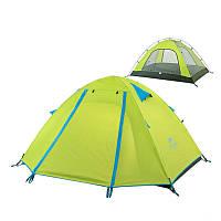Палатка 4-х местная NatureHike P-Series IV полиэстер зелёный NH15Z003-P