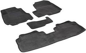 Трехслойные коврики Sotra 3D Premium 12mm Grey для Honda CR-V
