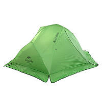 Палатка ультралёгкая 2-х местная с юбкой NatureHike Star-River 2 силикон зелёный NH15T012-T