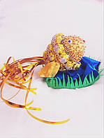Подарочный букет из конфет ручной работы  Золотая рыбка