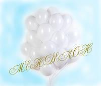 Белые гелиевые шары 50 шт.