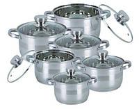 Набор кухонной посуды из нержавеющей стали 12 предметов Bohmann BH-1275-N