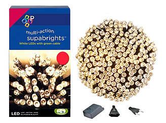 Новогодняя гирлянда 500 LED, IP44, Длина 38 М, Белый теплый светлый свет