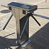 Спаренный турникет-трипод TiSO Центурион Твин (корпус — шлифованная нержавеющая сталь)