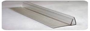 Профиль пристенный поликарбонатный, 8-10 мм - длина 6 м