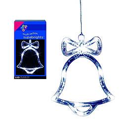 """Новогодняя гирлянда """"Колокольчик,елка,ангелочек"""" 15 LED"""