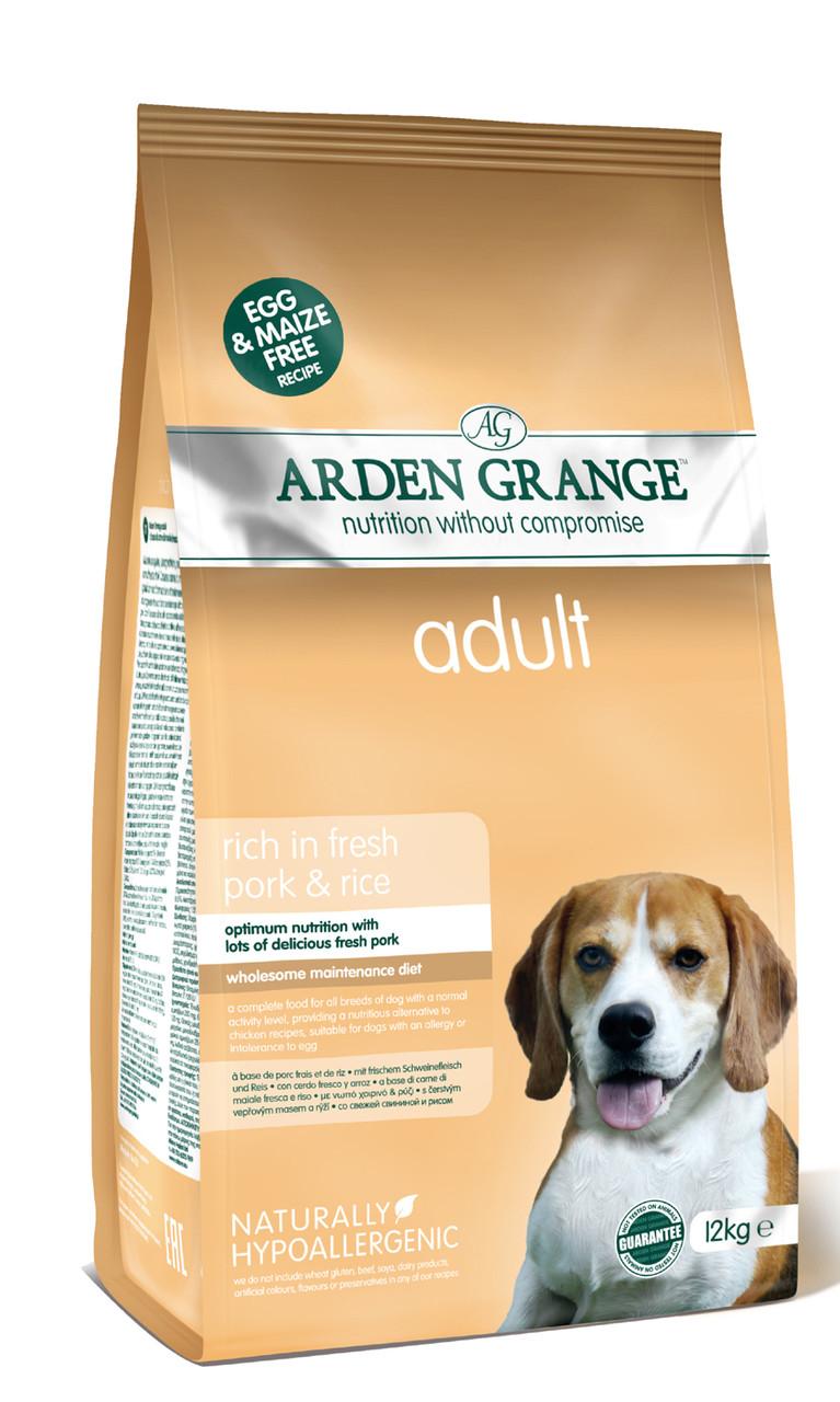 Arden Grange (Арден Грендж) ADULT DOG Pork & Rice 2кг. – корм для взрослых собак со свининой и рисом.